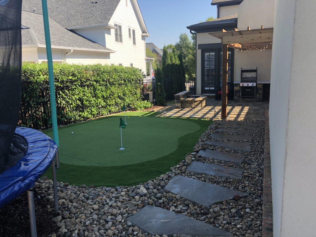 golf putting grass franklin